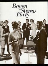 Super Rare 1960's Bogen Stereo Party Dealer Catalog Receivers Turntables Amps ++