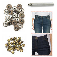 14mm Replacement Brass Bronze Jeans Buttons with Hand Tool for Denim Shirt Coats