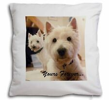 Westie Dog 'Yours Forever' Soft Velvet Feel Cushion Cover With Inner, AD-W1y-CPW