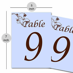 Table Number Signs Table Numbers Wedding, B'day, Banquet, Chistmas Party-Blue