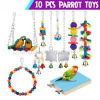 10 Packs Parrot Parakeet Cockatiel Cage Budgie Hanging Hammock Harness Toys ﹍ §