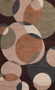 Circle Design Modern Oriental Area Rug Hand-Tufted Home Decor Foyer Carpet 5x8