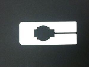 White Plastic 80 Blank Rectangular Size Dividers for Retail Clothing Racks