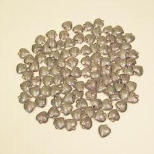 100 PC Dainty Heart Antique Silver Color Charms Pendants Wholesale Bulk Lot