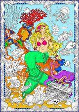 Mermaid Goddess - Giant Coloring Poster