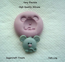 Mouse Animal Flexible Silicone Mould  Sugarcraft,Cup Cake Decorating,Crafts,Fimo