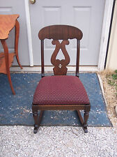 Empire Mahogany Sewing Rocker / Nursing Rocking Chair  (R114)