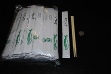 Lot of 100 Japanese Disposable Wrapped Bamboo Chopstick