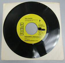 "Nina Simone ‎Assignment Song (Sequence) long and short versions 7"" 45rpm promo"