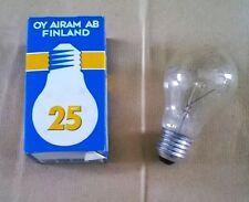 LAMPADINE ATTACCO E27 25W 230V INCANDESCENZA KIT 5 PEZZI AIRAM