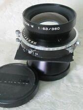 Large Format Fujinon W 360mm f6.3 Copal Shutter Toyo View Board 282133