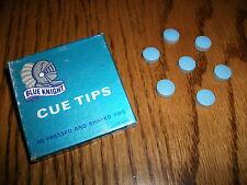 BLUE KNIGHT 11mm Pool Cue Stick Tips (7 TIPS) MEDIUM SOFT  Snooker Billiard Tip