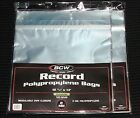 """200 RESEALABLE LP OUTER SLEEVES Clear 12"""" Vinyl Record Album Covers Seal 33 RPM"""