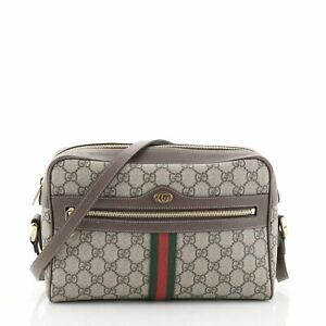 Gucci Ophidia Shoulder Bag GG Coated Canvas Small