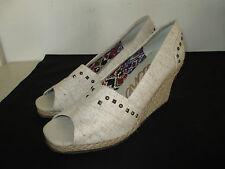 """Womens Skechers 3"""" Wedge Canvas Open Toe, NWOT, Size 7.5"""