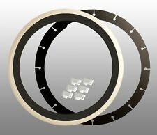4x Weißwandringe schwarz / weiß 14 Zoll + TÜV Weißwandreifen Zierringe Radkappe