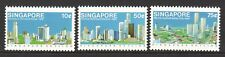 SINGAPORE 1987 SKYLINE OF SINGAPORE COMP. SET OF 3 STAMPS SC#499-501 IN MINT MNH
