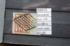 FRANCOBOLLI ASI PONTIFICIO N°6 USED USATI (F98013)