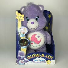 "Care Bears Sweet Dreams Glow A Lot Purple Plush 13"" 2015 Just Play Moon"