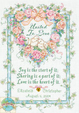 Dimensions United in Love Wedding Record Counted Cross Stitch Kit 10x14 273346
