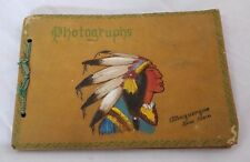 Antique Vintage Photo Album Black Paper Albuquerque New Mexico Indian Chief