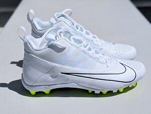 Nike Alpha Huarache 6 Varsity Lacrosse Cleats, White/Volt Men's 11~NEW