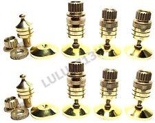 16x Copper Hifi Speaker Amp Floor Stand Spike Base Cone 16x Gold Base Pad CCS16