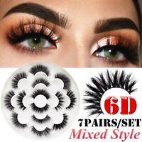 7 Pairs 6D Mink Soft Long Natural Thick Makeup Eye Lashes False Eyelashes