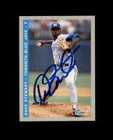 Dave Stewart Hand Signed 1993 Fleer Toronto Blue Jays Autograph