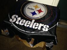 Pittsburgh Steelers Scarf, Bandana, Durag or Table Cloth for Mancave 34 in Black