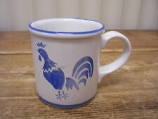 Blue Rooster Chicken Hen Coffee Mug Cup Country Blue 1982 Vintage