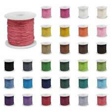 80M Waxed Cotton Cord Beading Thread Jewellery Making Thong 0.8/1/1.5/2mm