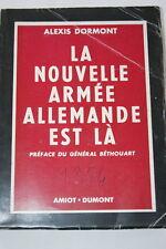 LA NOUVELLE ARMEE ALLEMANDE..,Dormont-Amiot Dumont-1954