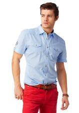 John Devin Heine Herren Hemd blau Gr. L NEU