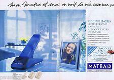 PUBLICITE ADVERTISING 095 1993 Matra le téléphone sans fil (2 pages)