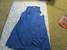 Lularoe Joy Vest M Blue, Unicorn Bnwt