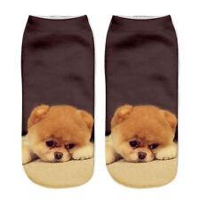 3D Printed Animal Casual Socks Cat Low Cut Ankle Unisex Short Women Fashion