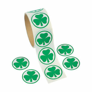1 roll ~ Shamrock Stickers 100 count ~ Party favors~ St. Patrick's Day Green