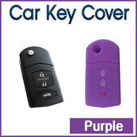 CAR SMART KEY COVER SILICONE CASE Fit MAZDA 3 2 6 MPS SP25 CX5 CX7 CX9 3B-PURPLE