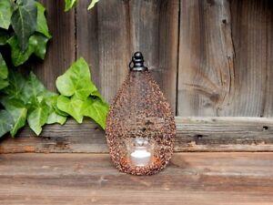 Windlicht Metall Garten Laterne Licht Lampe Kerzenhalter Deko Beleuchtung