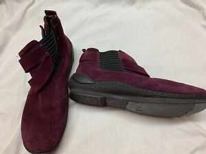 Josef Seibel Mulberry Suede Ankle Boots Sz 40