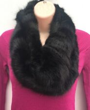 5aa2e396cf7 Ladies Ex LAURA ASHLEY Black Faux Fur Infinity Scarf Snood RRP £35  NEW