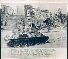 1944 WW2 Soviet Tank Sevastopol Ruins Tank Street Shattered Buildings