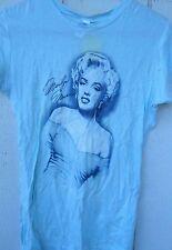 NEW CLASSIC MARILYN MONROE FULL BODY WOMEN'S BABY DOLL T-SHIRT XLARGE,COLOR BLUE