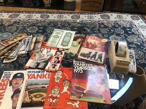 New York Yankees Yearbook Vintage Lot Old bond old paper and photos Reds 1973