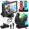 4 Port Controller Charger Charging Dock Station For Nintendo Switch Joy-Con&Pro
