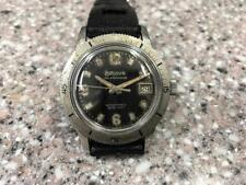 VINTAGE 1964 BULOVA 666FT DIVER REF 386-1  WATCH WITH A BLACK GILT DIAL.