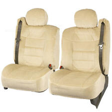Checkered Scottsdale Truck Seat Covers Built-in Seat Belt in Beige Fit for Yukon
