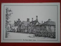 POSTCARD ESSEX STISTED - THE STREET PENCIL SKETCH