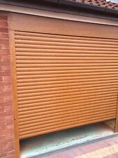 Roller Shutter Garage Door Rosewood Or Golden Oak Electric Remote Controlled